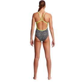 Funkita Single Strap One Piece Svømmedragt Damer hvid/sort